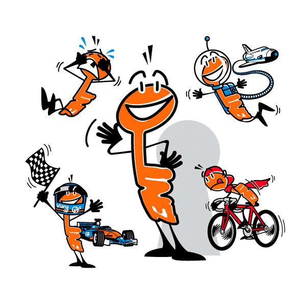 """Ilustración: Mascota oficial del """"Nafarroa Oinez 2007"""""""