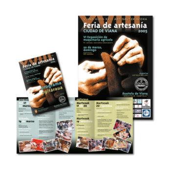 Impresos publicitarios: Programa Feria de Artesanía de Viana