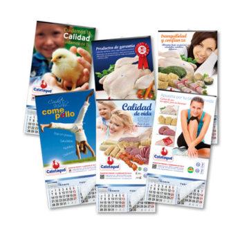 Impresos publicitarios: Cárnicas Calatayud, calendarios
