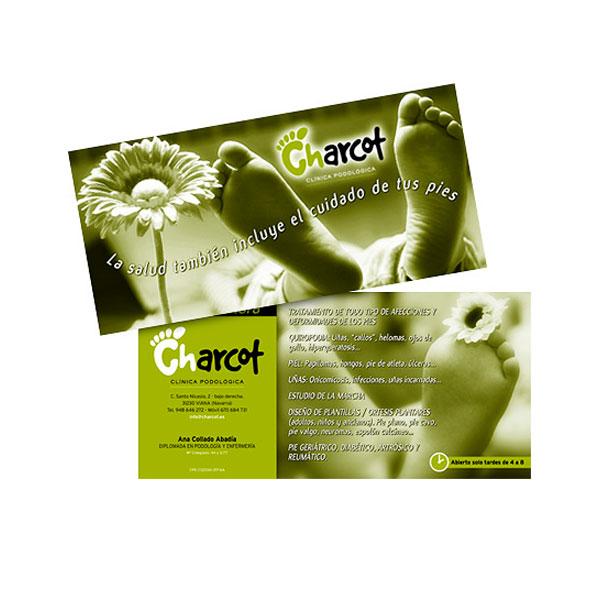 Impresos publicitarios: Charcot, flyer publicitario