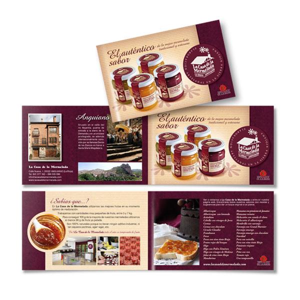 Impresos publicitarios: La Casa de la Mermelada, folleto publicitario