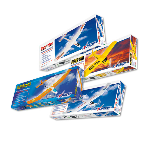 Packaging: Juguetecas, cajas para aviones RC