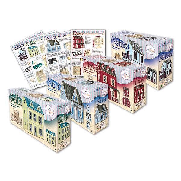Packaging: Juguetecas, casas, cajas e instrucciones para casas de muñecas