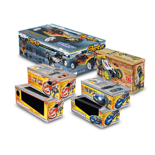 Packaging: Juguetecas, cajas para coches RC