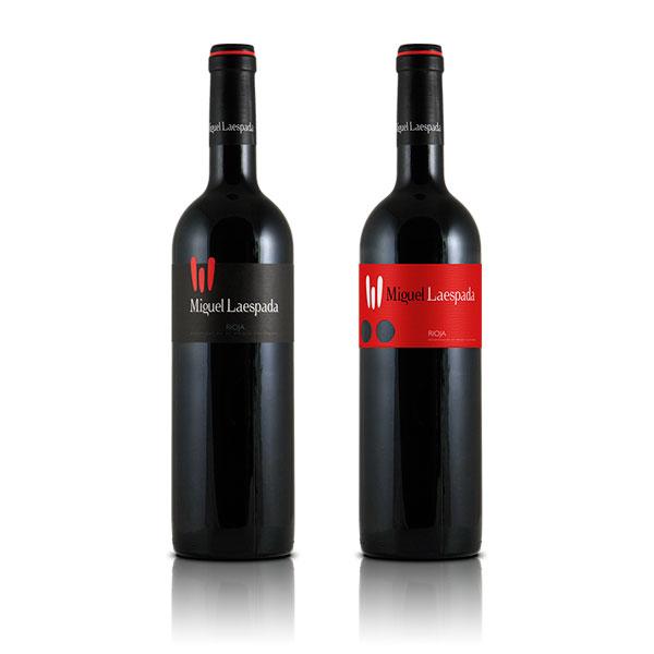Packaging: Bodegas Miguel Laespada, etiquetas