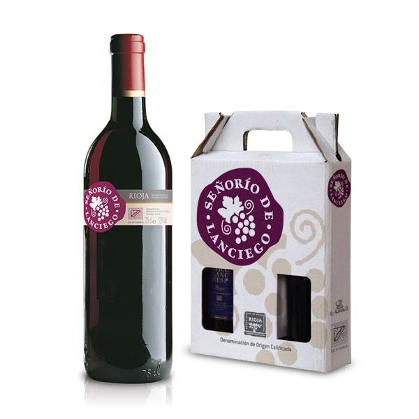 Packaging: Bodegas Señorío de Lanciego, etiqueta y estuches