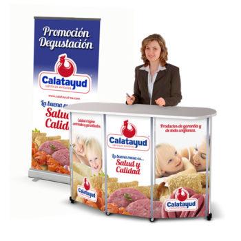 PLV: Cárnicas Calatayud, punto de venta portátil y RollUp