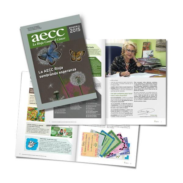Publicaciones: Memoria anual de la AECC Rioja