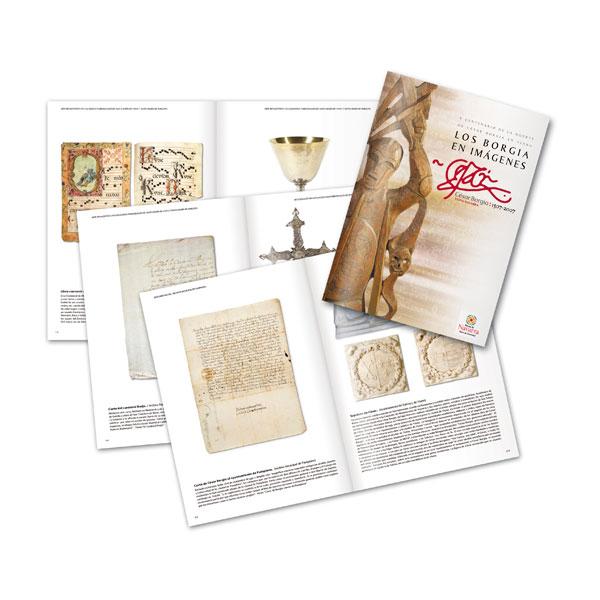 """Publicaciones: Catálogo de la exposición """"Los Borgia en imágenes"""""""