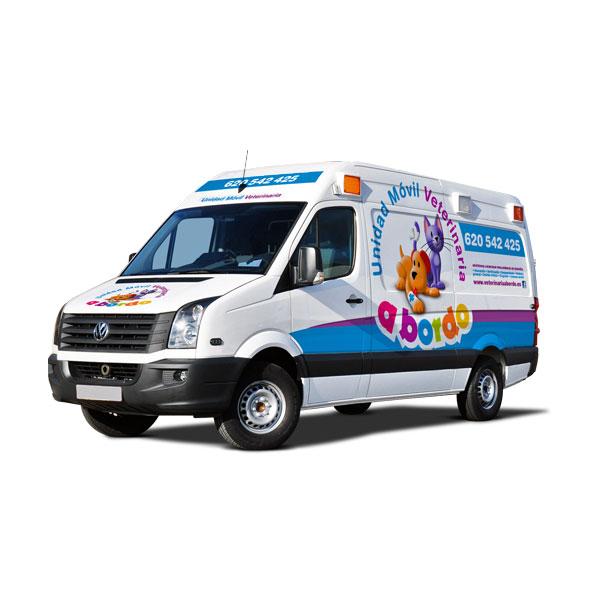 Rotulación: Vehículo Veterinaria A bordo