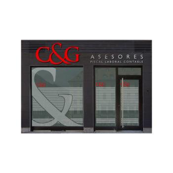 Rotulación: Fachada C&G asesores