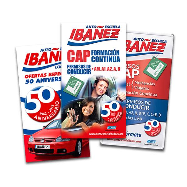 Rotulación: Cartel exterior Autoescuela Ibáñez