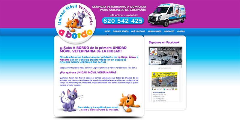 Sitio web: Veterinaria a bordo