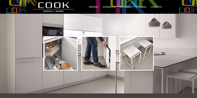Sitio web: Cook, cocina y baño