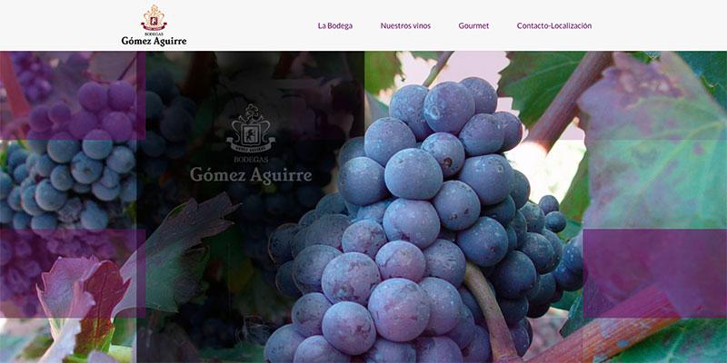 Sitio web: Bodegas Gómez Aguirre