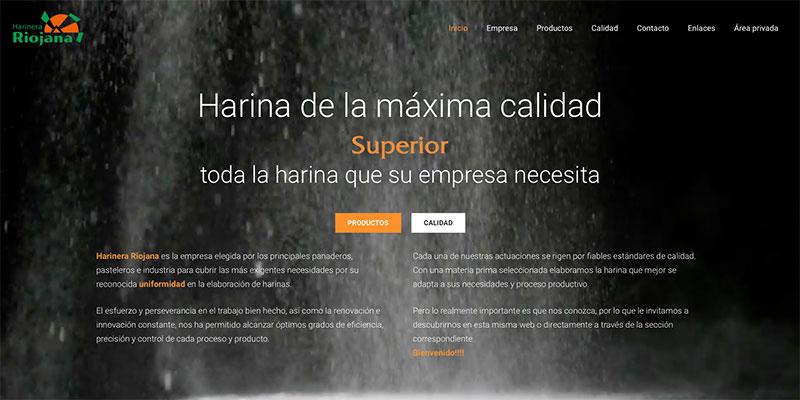 Sitio web: Harinera Riojana