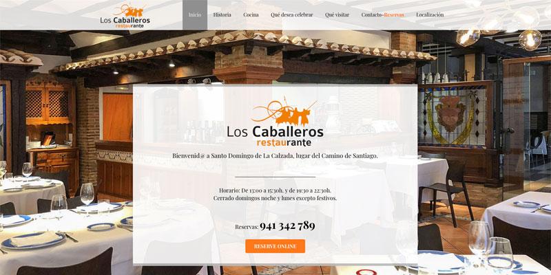 Sitio web: Los Caballeros, restaurante