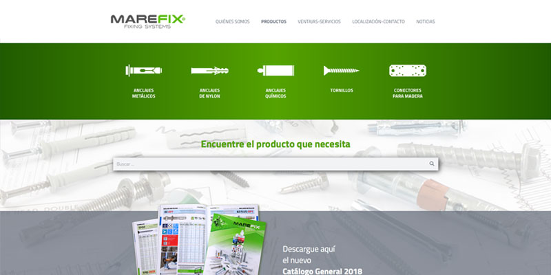 Sitio web: Marefix, fixing systems