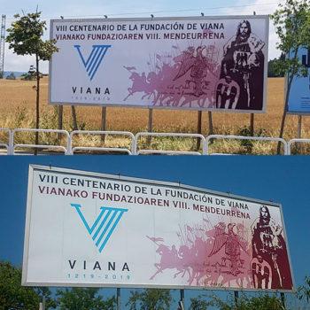 Rotulaciones: VIII Centenario Viana, vallas