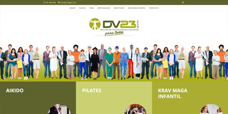 """Sitio web: Gimnasio DV""""· Gym"""